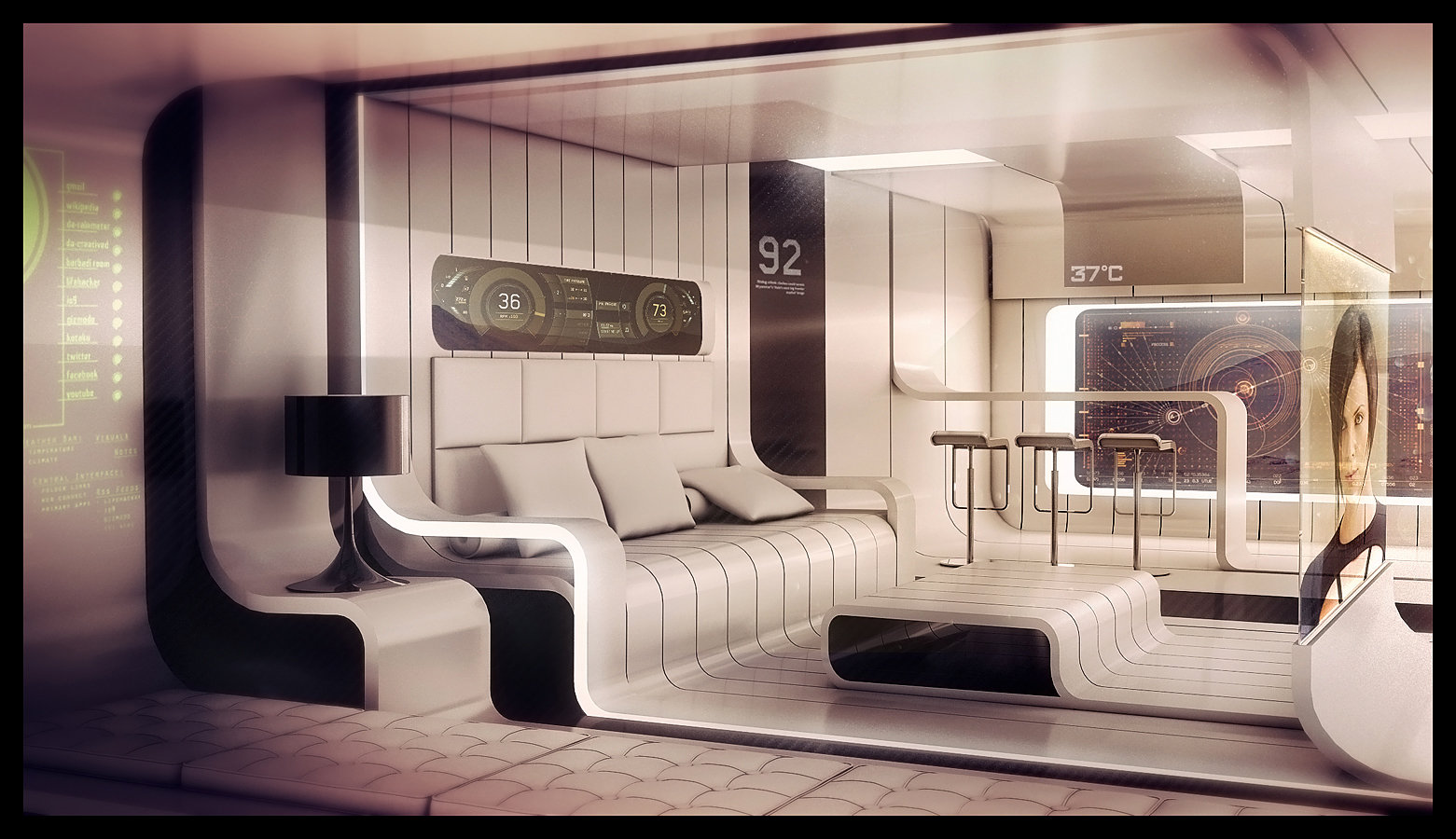 Superb futuristic 3d sci fi art by encho enchev concept for Sci fi decor