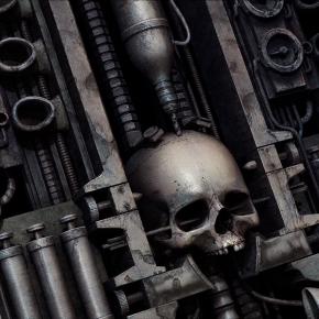 alex-kozhanov-gutalin-sci-fi-horror-machine-skull-art