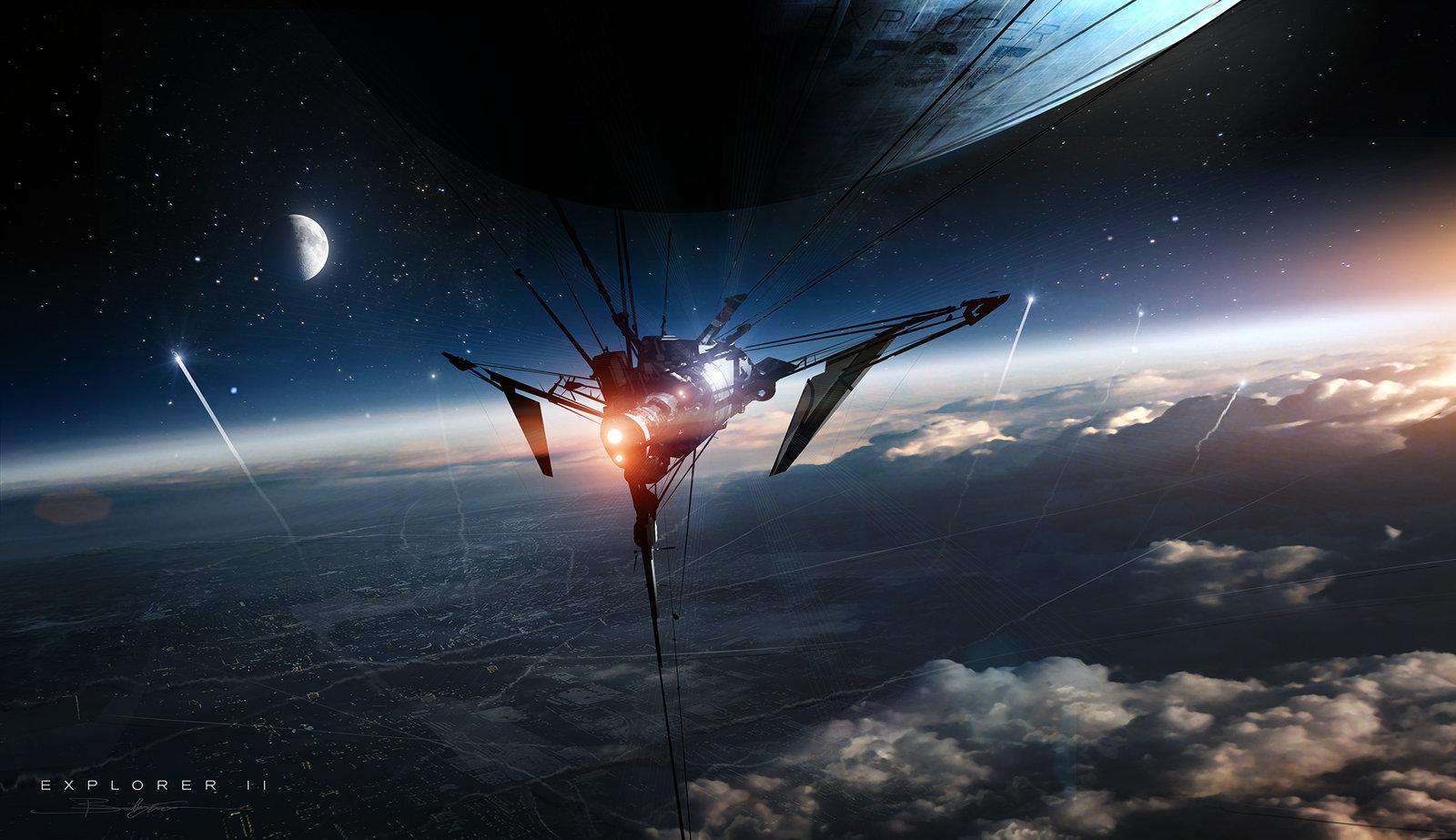 The sci fi art of bastien grivet bastien grivet artist - Space explorer wallpaper ...