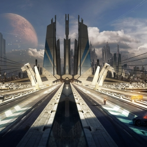 bastien-grivet-alone-on-the-road-sci-fi-artwork-1