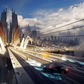 bastien-grivet-alone-on-the-road-sci-fi-artwork