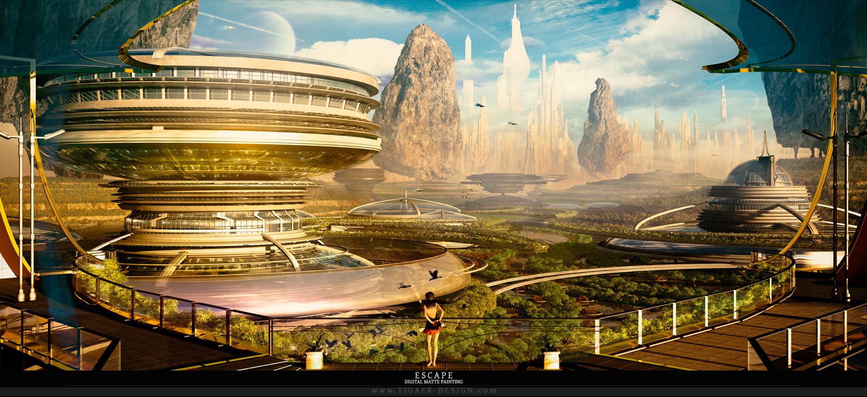 The Sci-Fi Art of Christian 'Tigaer' Hecker | Digital Artist