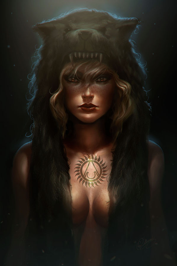 Fantasy Art Brown Hair