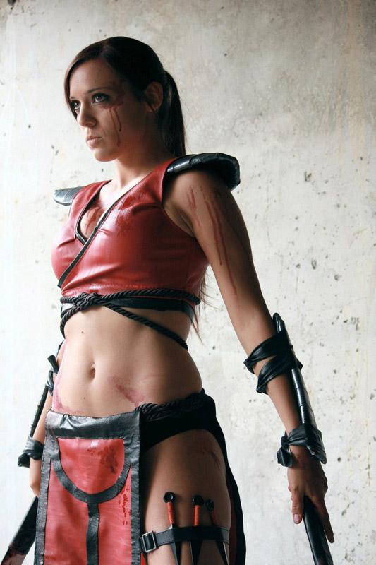 Sexy mortal kombat cosplayer slideshow - 2 part 4