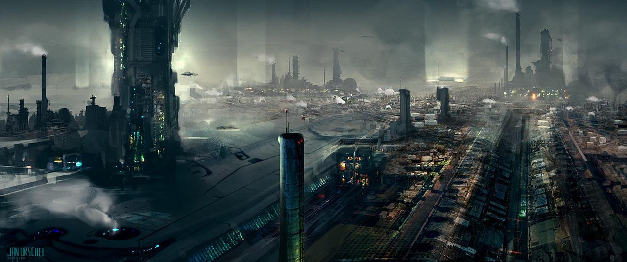 Jan urschel concept illustrator jan urschel sci fi artist - Paysage star wars ...