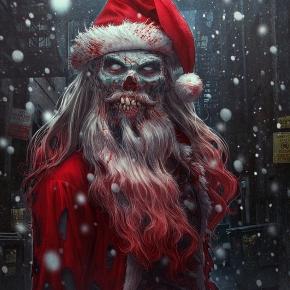 Zombie Claus by kerembeyit moustache