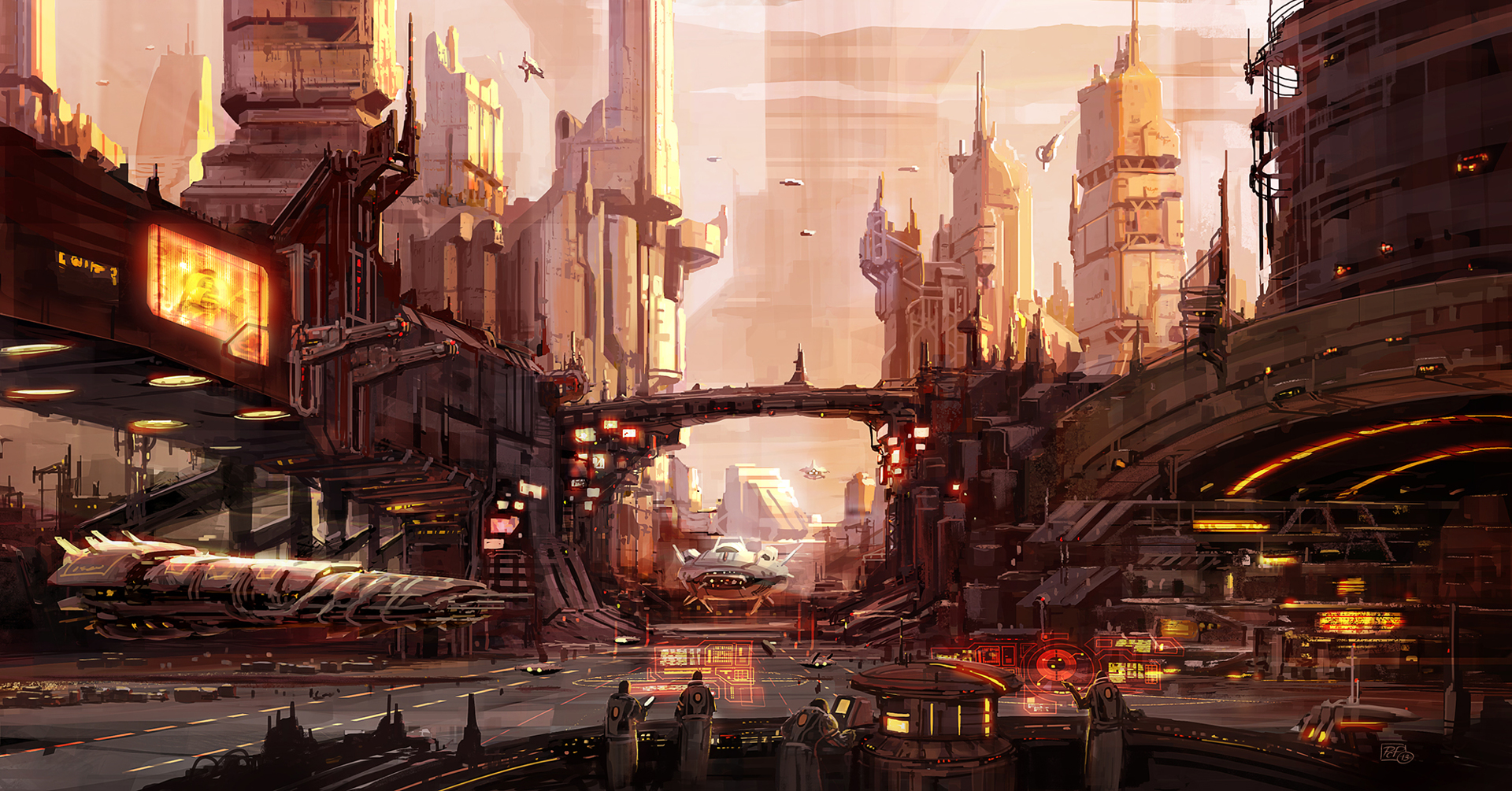 Pat presley sci fi concept artist concept art of pat presley for Design in the city