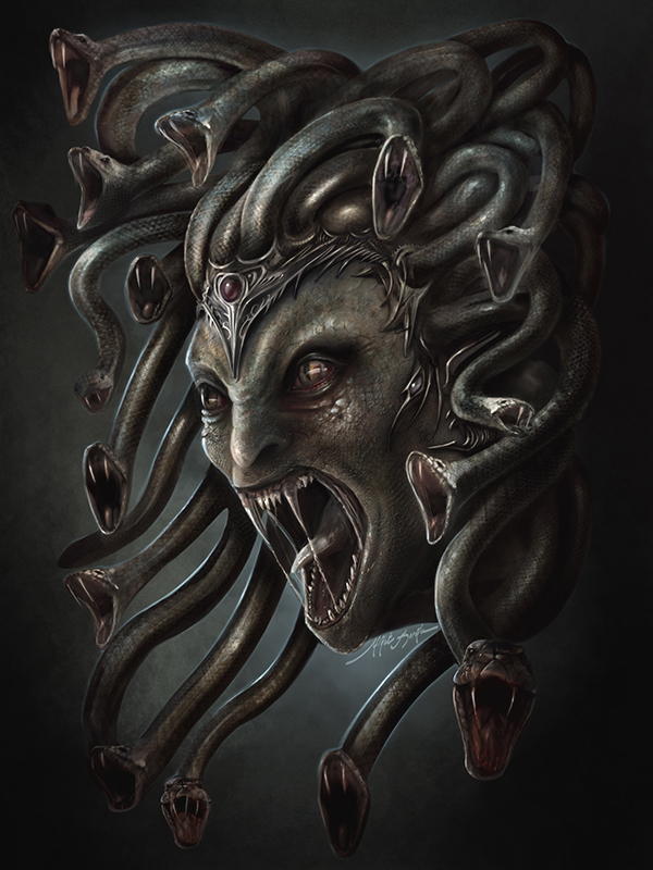 Seres mitologicos griegos Yigit-koroglu-fantasy-horror-illustrator