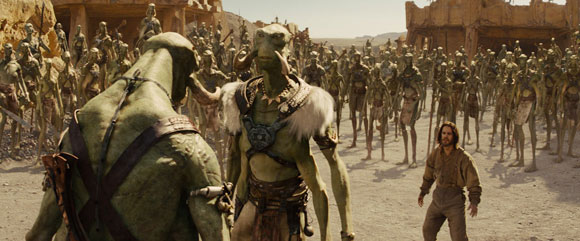 Clips from John Carter Sci-Fi Movie