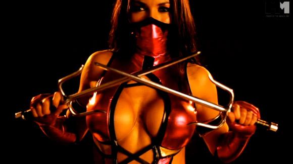 Sexy Mileena Cosplay Mortal Kombat