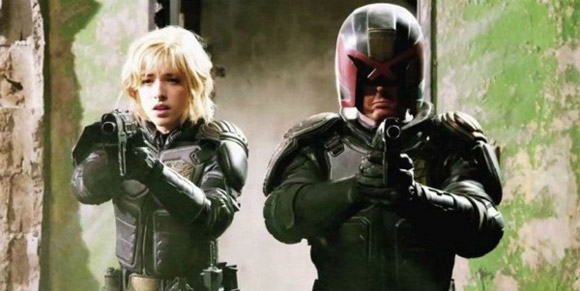 Olivia Thirlby and Karl Urban Dredd Movie 2012