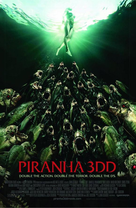Piranha 3DD 2012 Movie Poster online