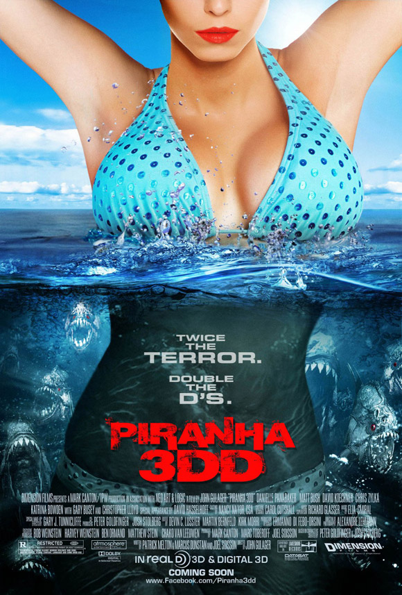 B-Movie Poster for Piranha 3DD 2012