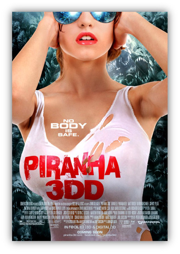 Sexy poster for Piranha 3DD - released 2012