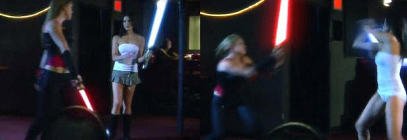 Spoof Star Wars Light Saber Duel