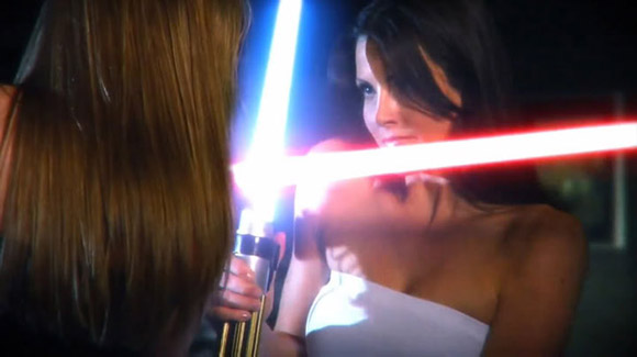 Sexy Light Saber Girl Fight
