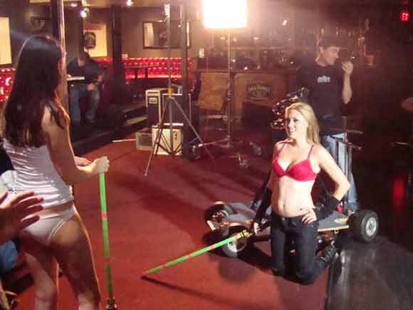 Models in underwear star wars themed commercial