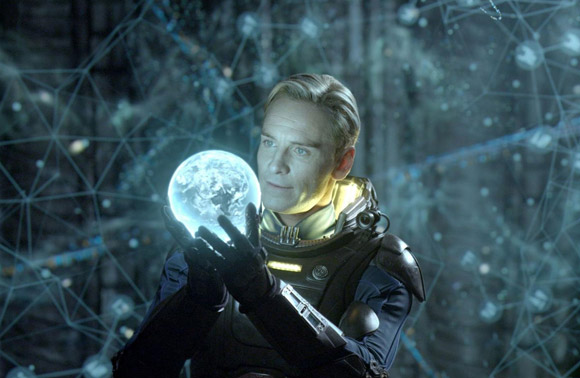 Michael Fassbender is excellent as David in Prometheus