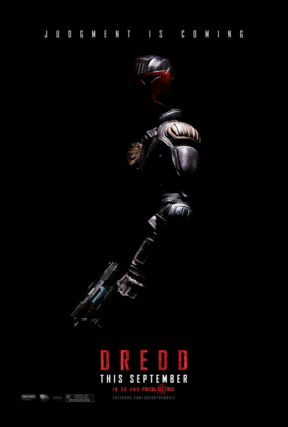 Dredd official movie poster from Lionsgate 2012