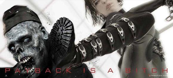 Kicking Zombie Ass - Milla Jovovich
