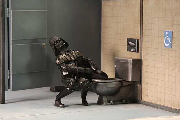 Darth Vader Cloak Toilet Robot Chicken Star Wars