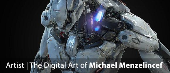 Luscious futuristic works from digital artist, Michael Menzelincef