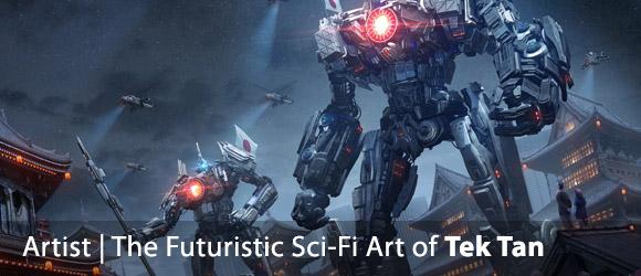 The Futuristic Sci-Fi Art of Tek Tan