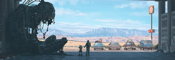 The Atmospheric Sci-Fi Art of Simon Stålenhag