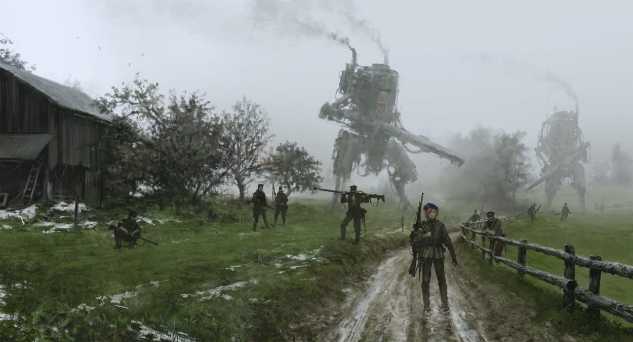 The Retro Mech Art of Jakub Rozalski