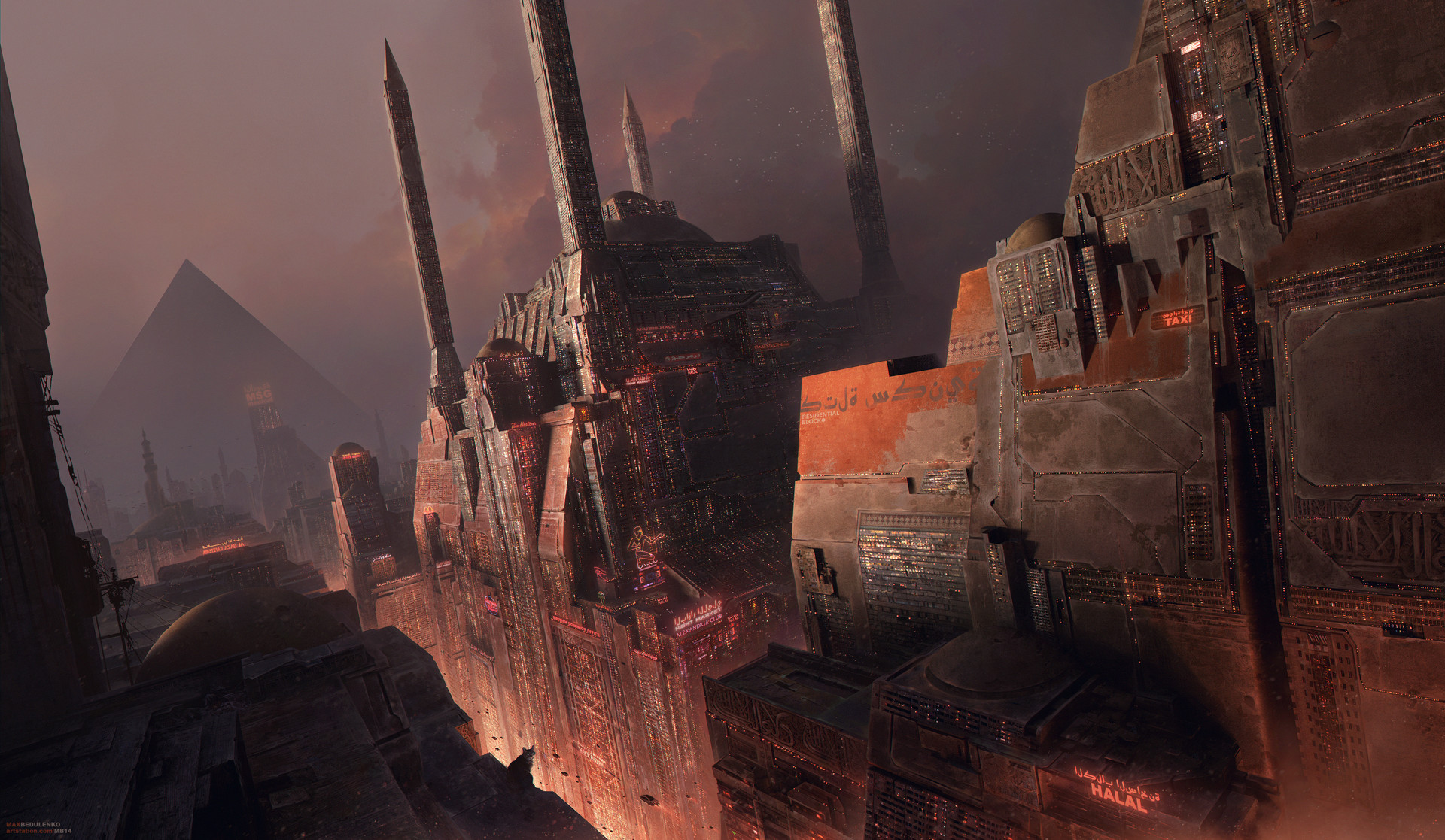 The Science Fiction Art of Max Bedulenko