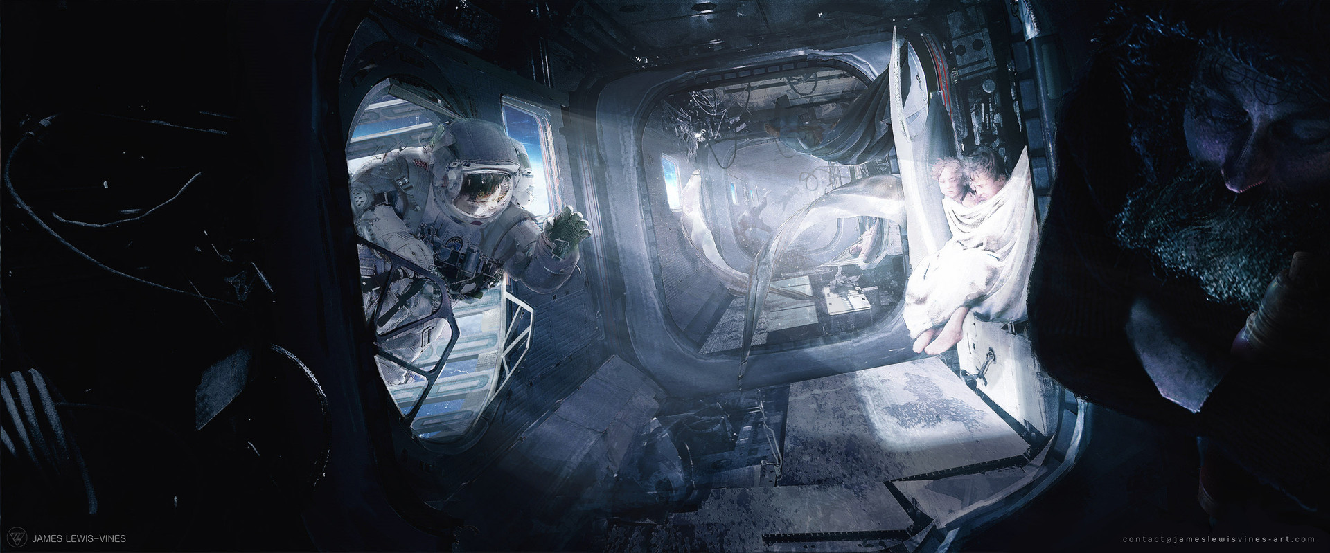 The Sci-Fi Concept Art of James Lewis-Vines