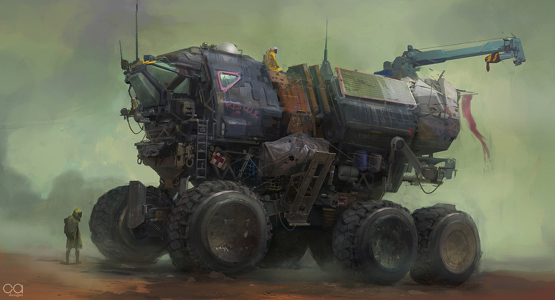Concept Art And Tactical Vehicle