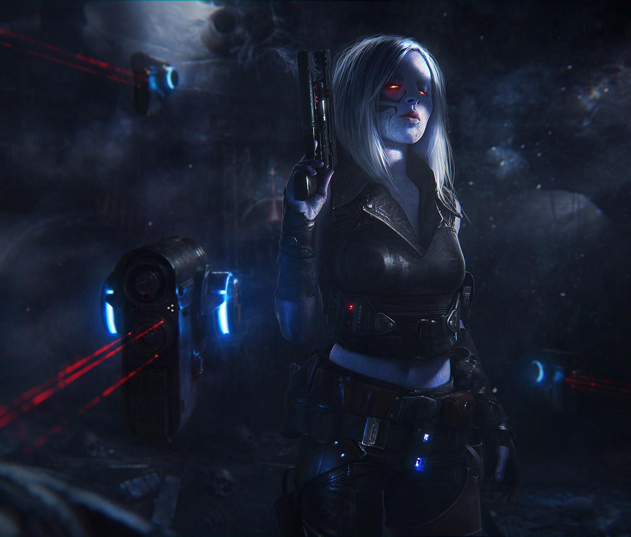 Sci Fi Cyberpunk Character Art