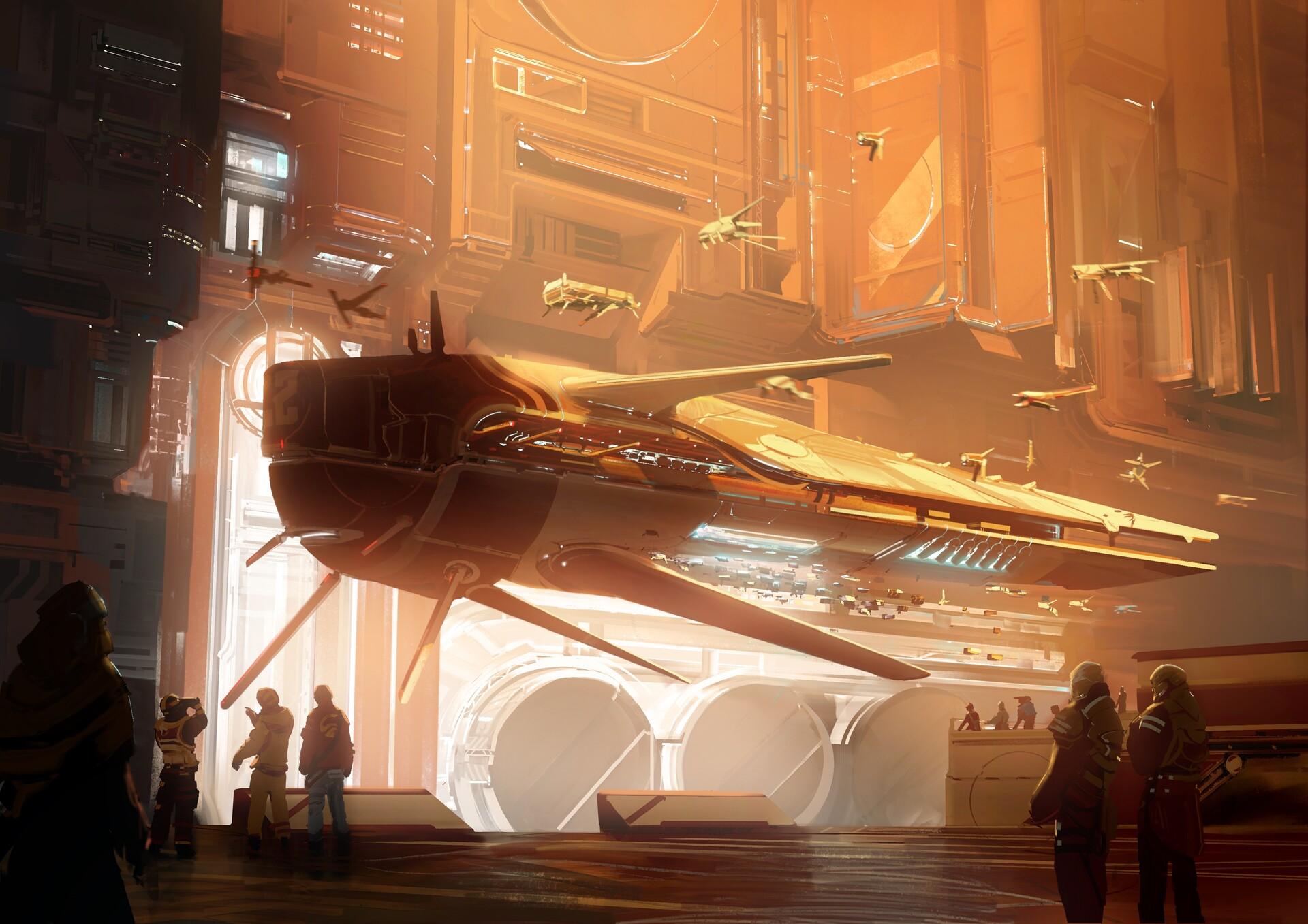 The Science Fiction Art of Stéphane Bourez
