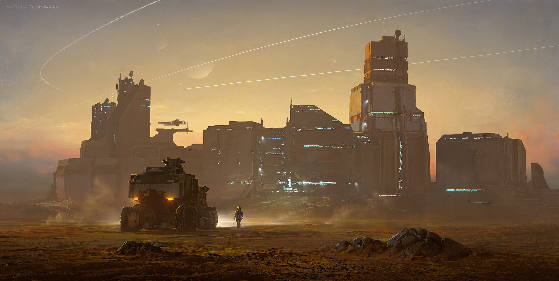 The Superb Sci-Fi Concept Art of Kait Kybar