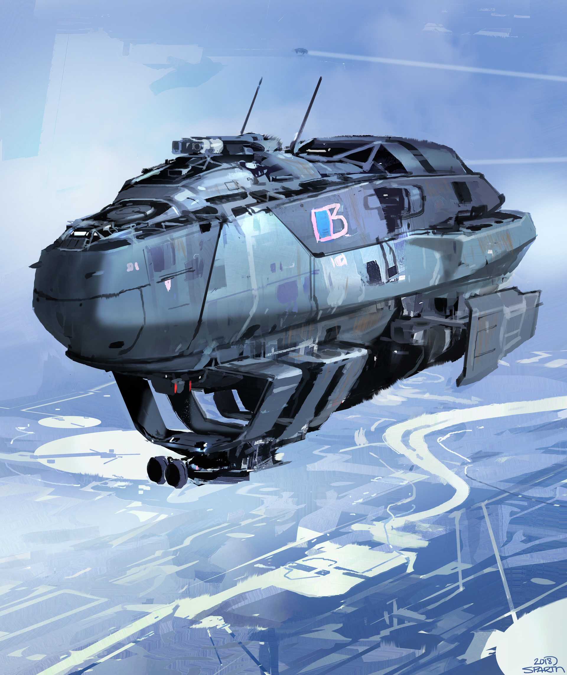 The Science Fiction Art of Sparth