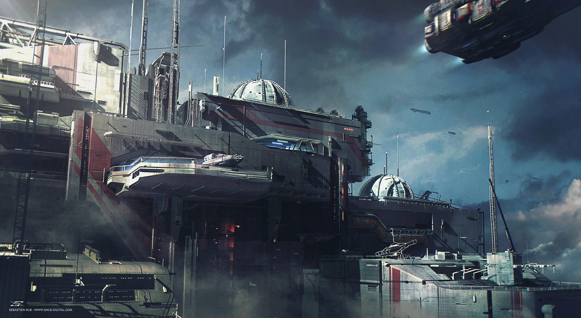 Amazing New Sci-Fi Artworks by Sebastien Hue