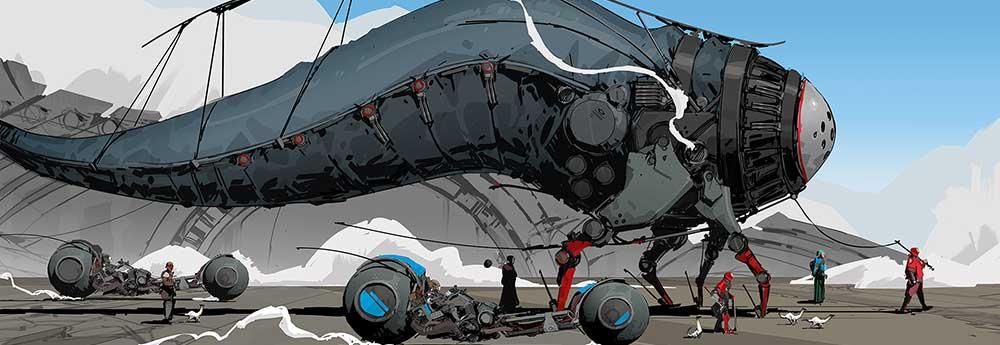 The Super Cool Sci-Fi Art of Darren Bartley