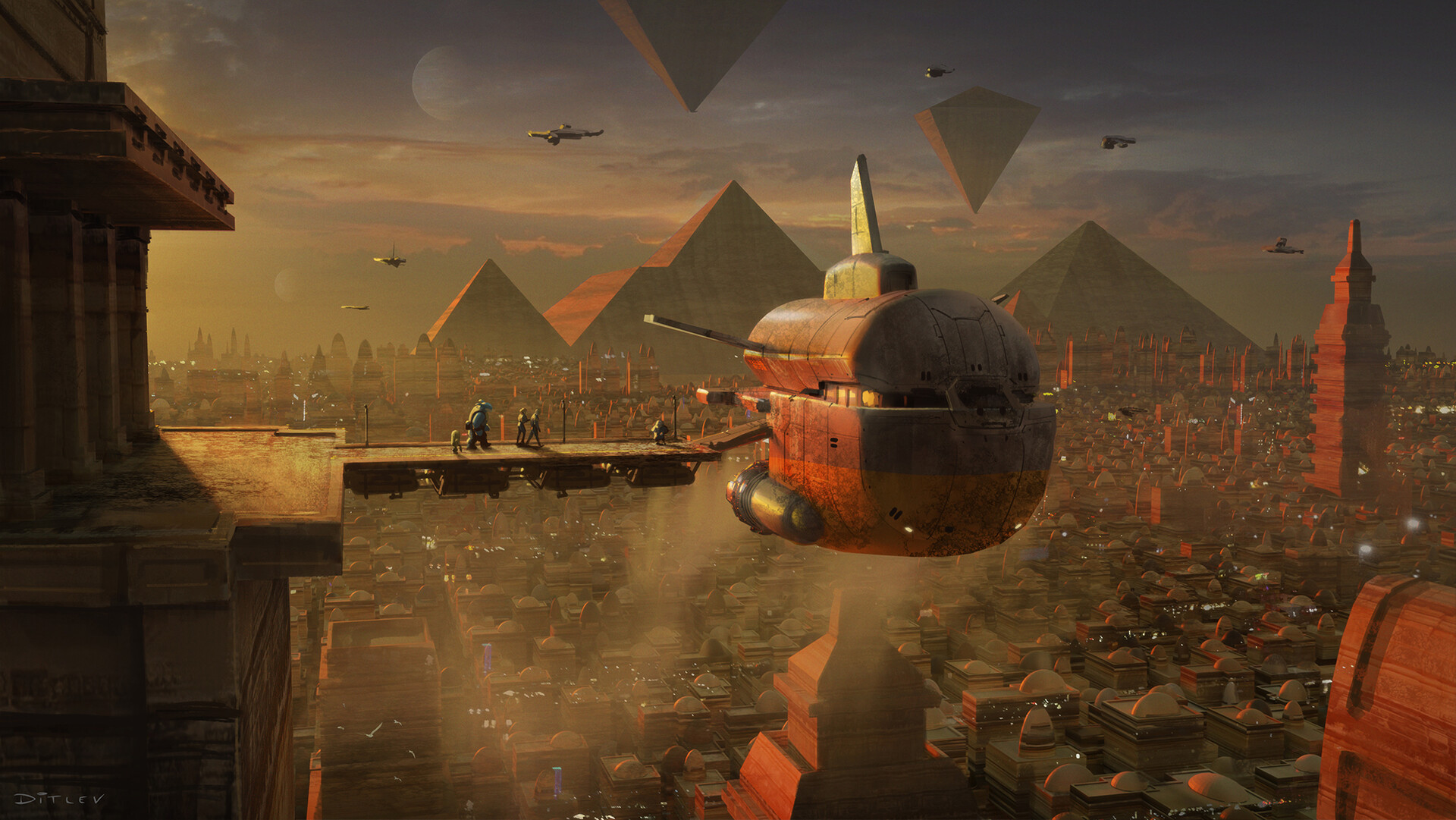 The Sci-Fi & Fantasy Art of Jan Ditlev