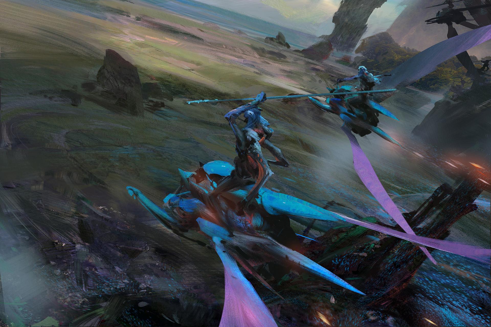 Sci-Fi Sketches & Concept Art of Bin Yin