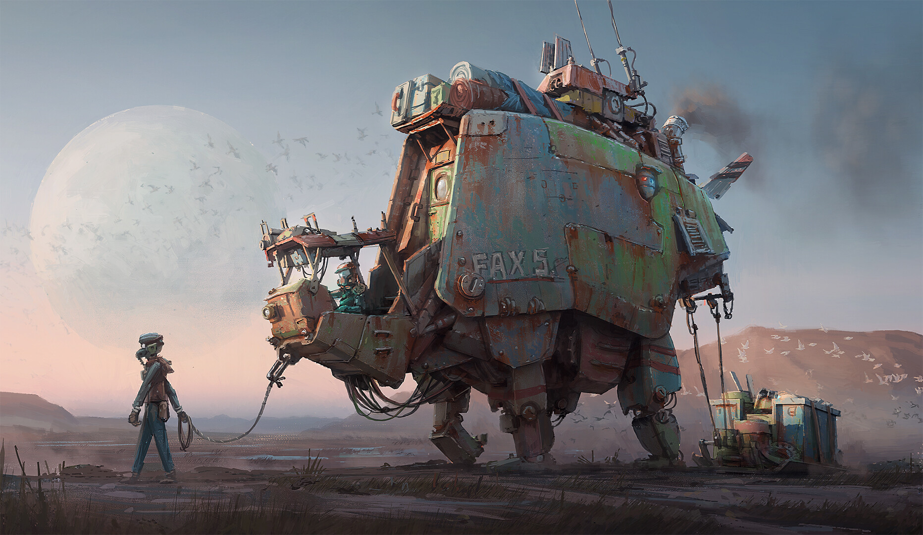 The Science Fiction Art of Hamish Frater