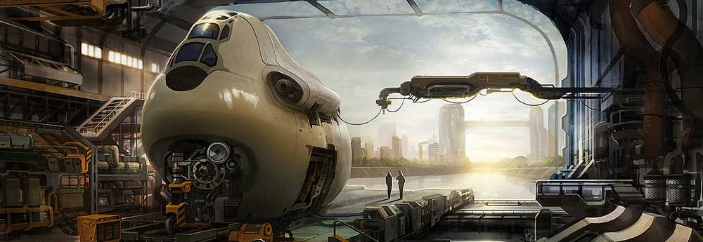 The Superb Sci-Fi Art of Won Jun Tae