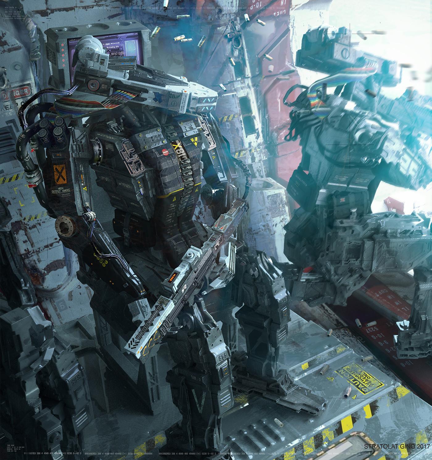 The Futuristic Sci-Fi Art of Gino Stratolat
