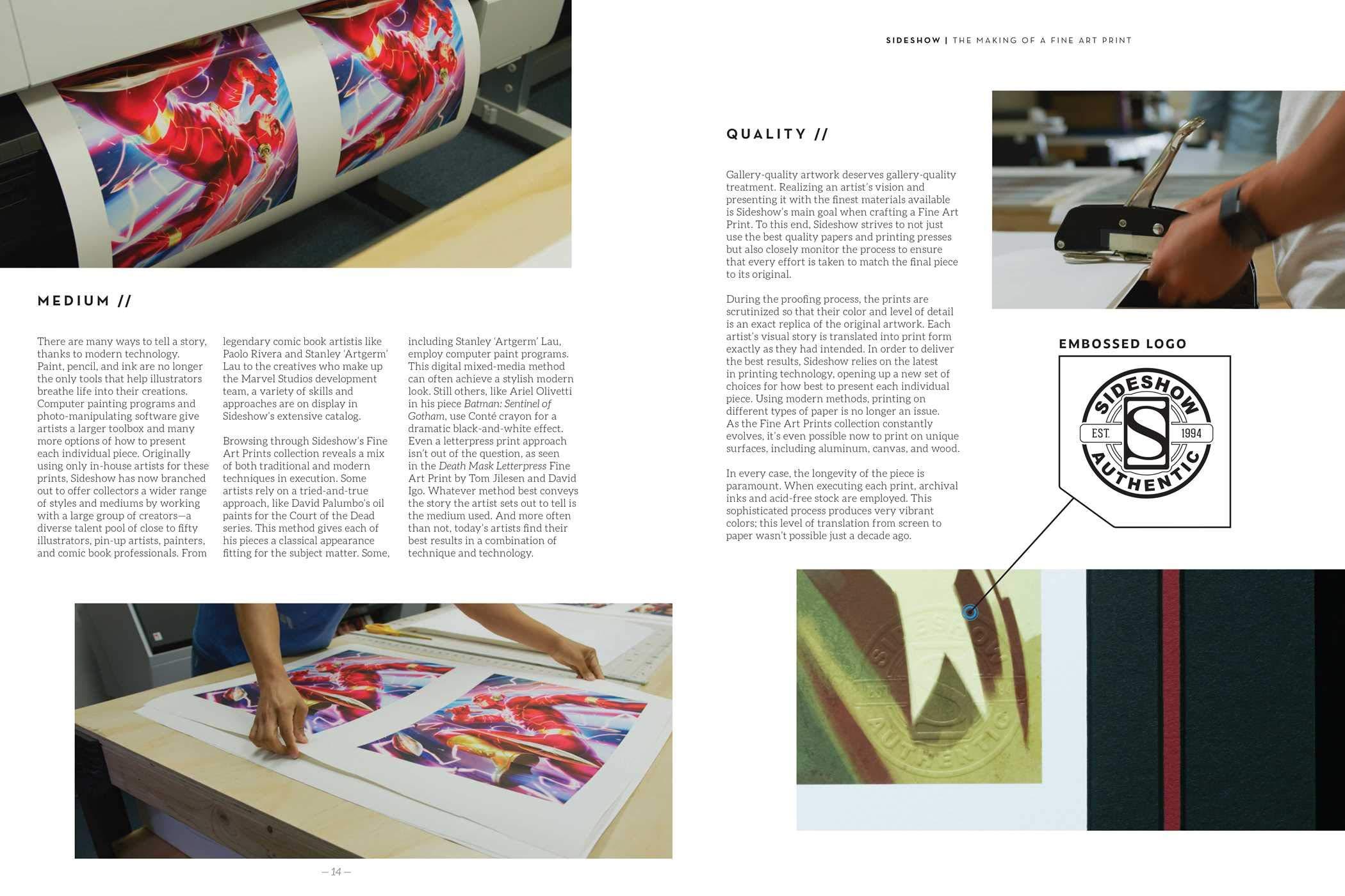 Sideshow: Fine Art Prints Vol. 1 Art Book