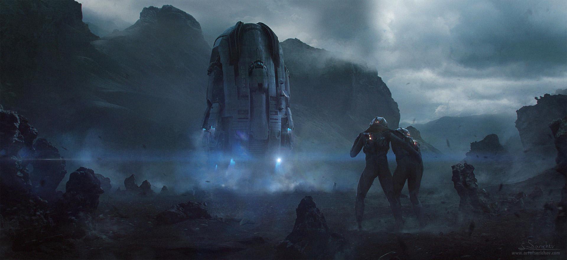 The Science Fiction Art of Sergei Sarichev