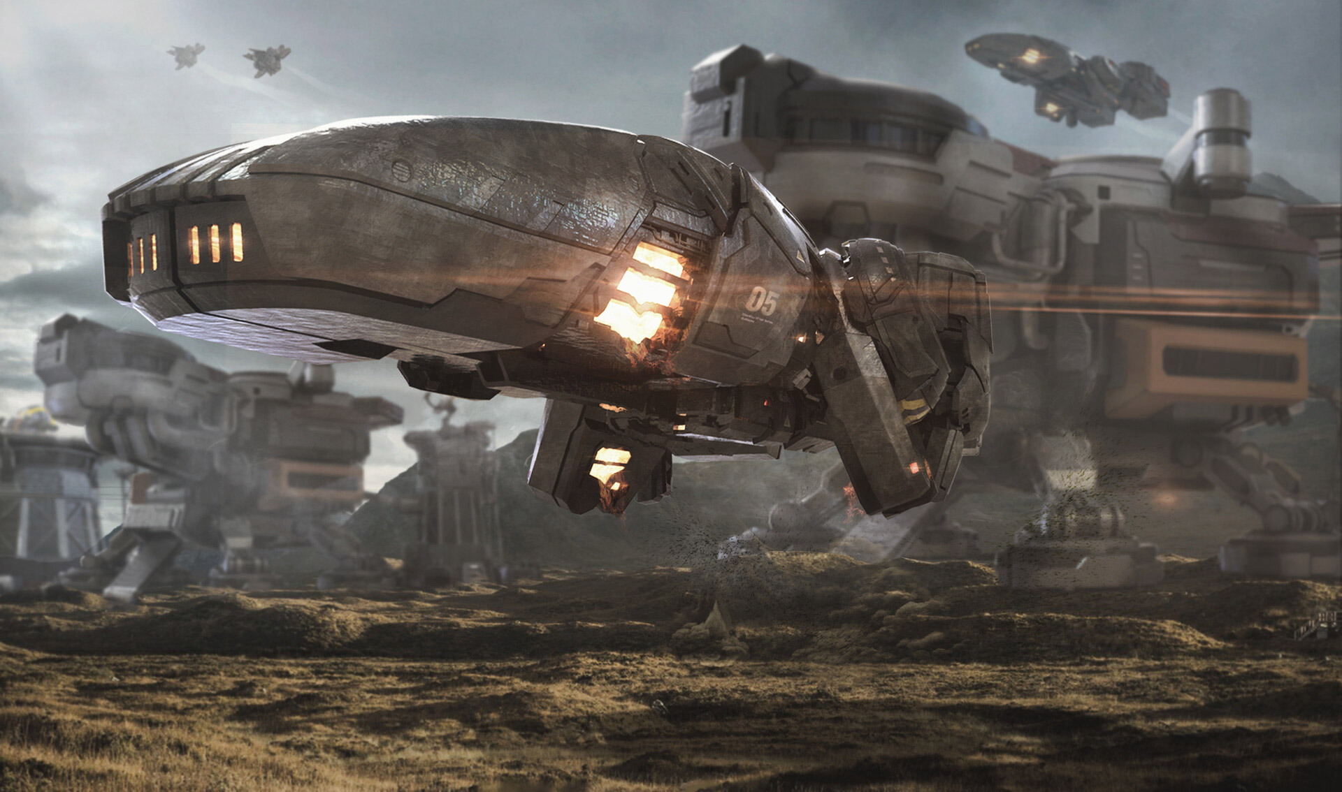 The Stunning Sci-Fi Art of Nak Ma