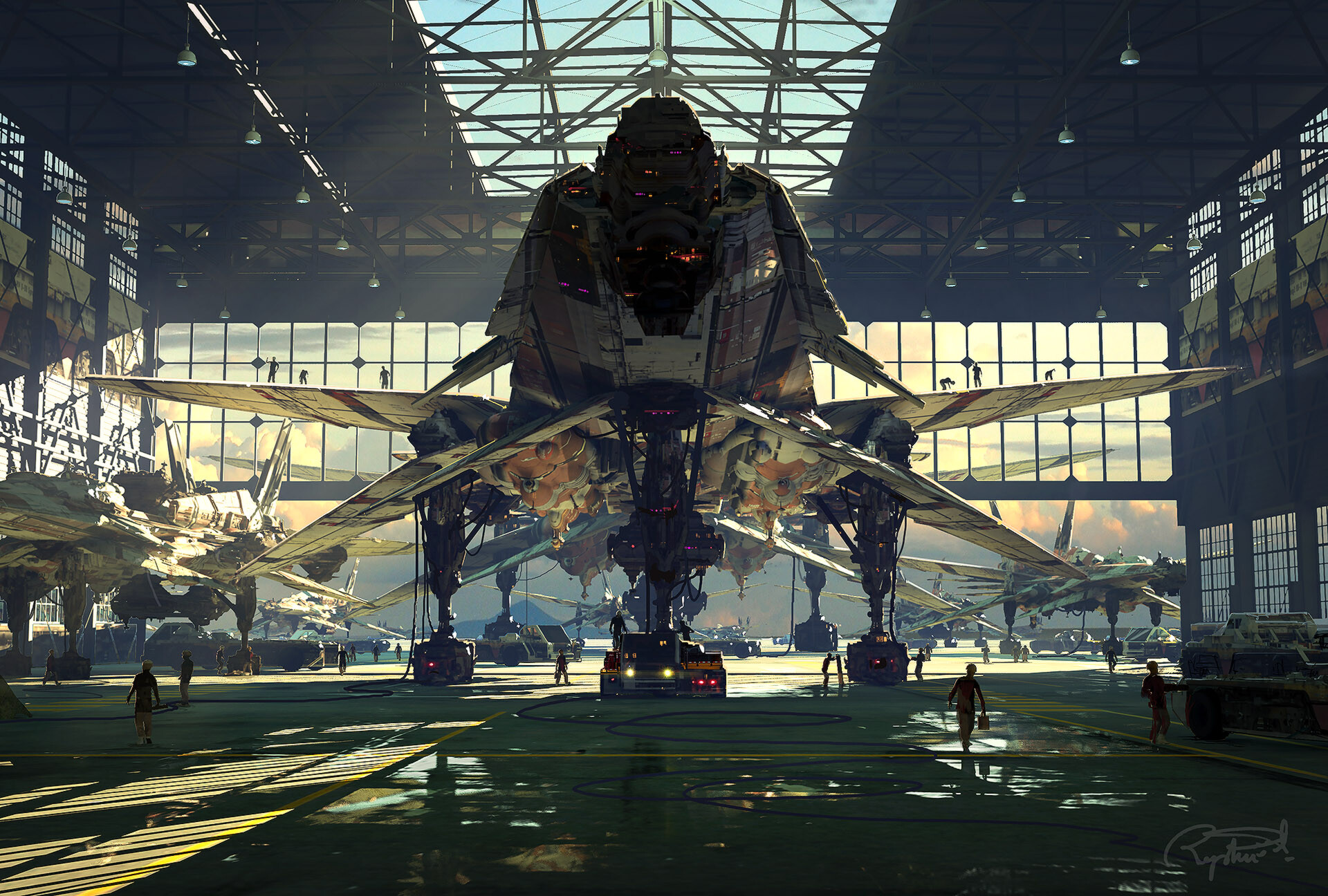 Amazing new sci-fi artworks by Raphael Lacoste