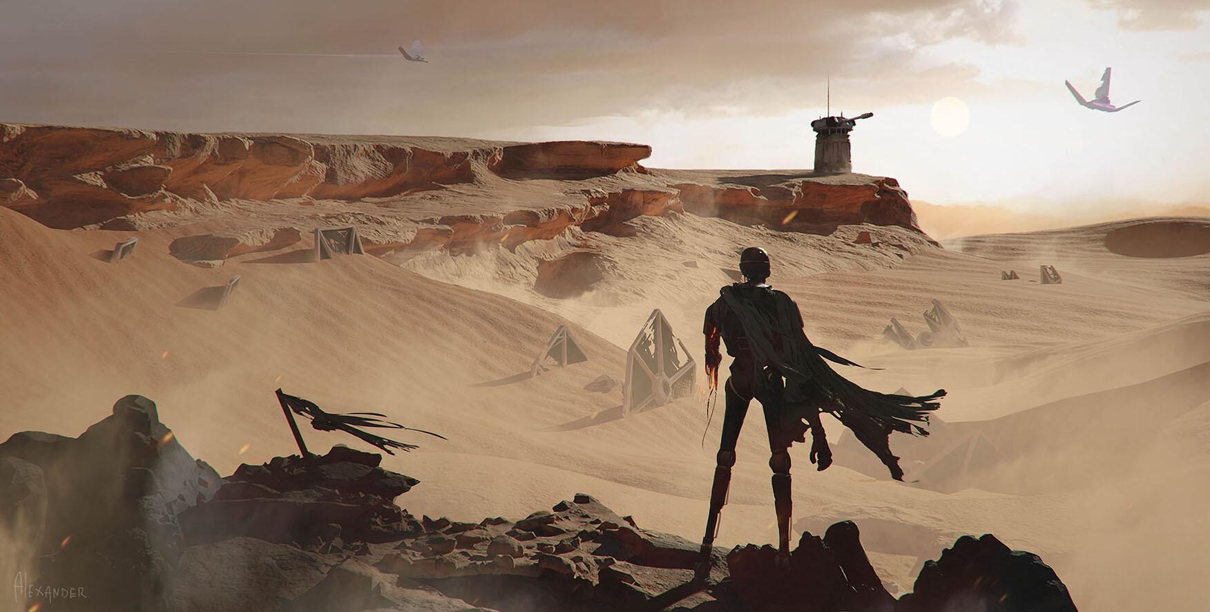 The Sci-Fi Themed Sketches of Joseba Alexander