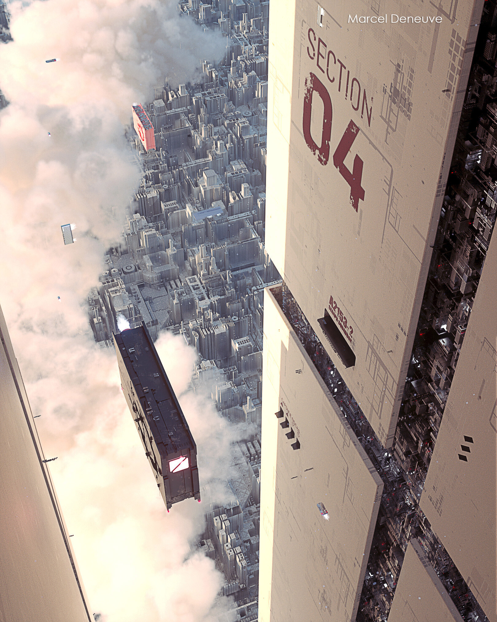 The Impressive Sci-Fi Art of Marcel Deneuve