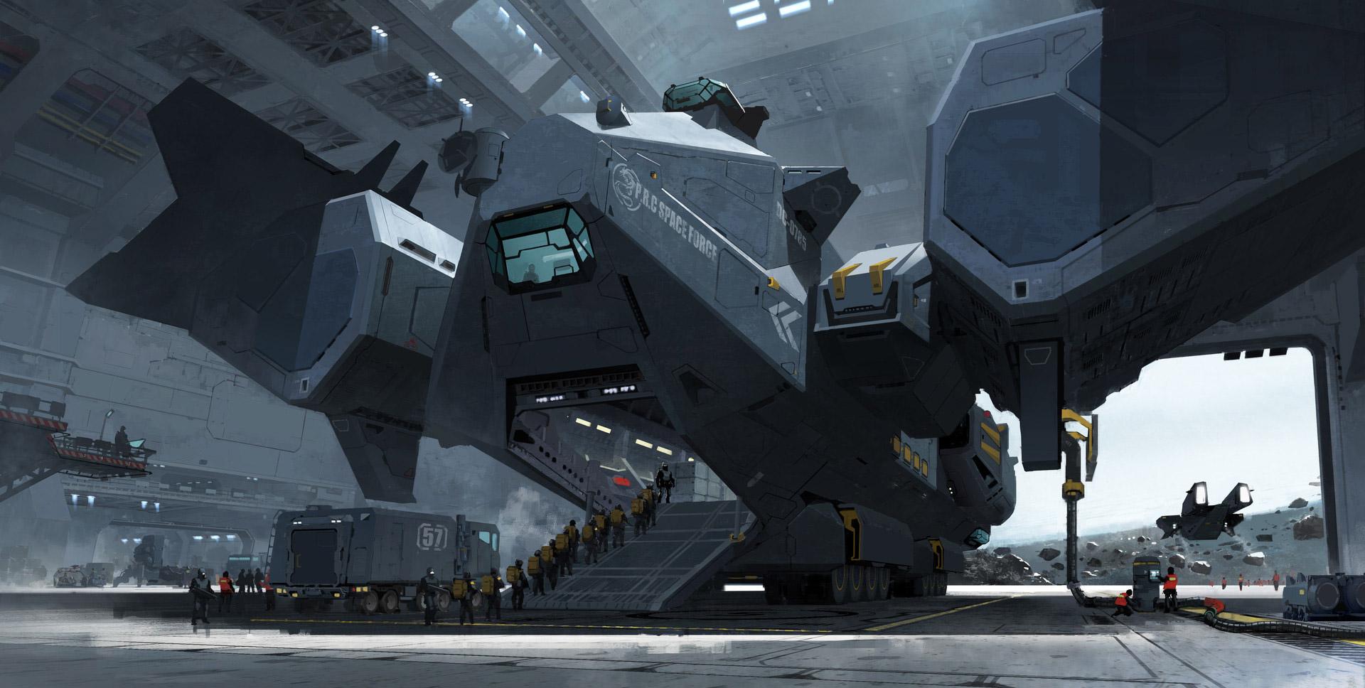 The Futuristic 3d Sci-Fi Art of Yu Yiming